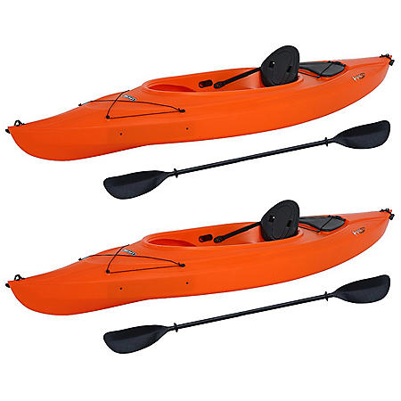 "Lifetime Payette 116"" Sit-In Kayak - 2 Pack (Paddles included) - Assorted Colors"