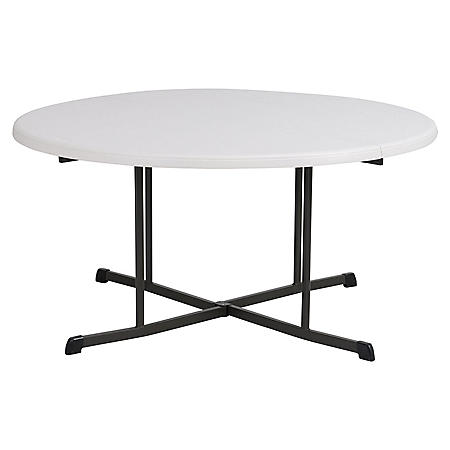 """Lifetime 60"""" Fold-In-Half Round Commercial Grade Table, Various Colors"""