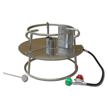 King Kooker #SS1316 Stainless Steel Portable Propane Outdoor Double Jet Cooker Package