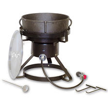 King Kooker Jambalaya Cooker and 5-Gallon Cast Iron Pot