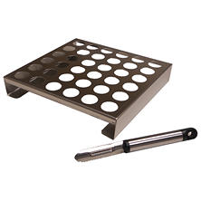 King Kooker Stainless Steel Jalapeno Rack with Corer Tool.