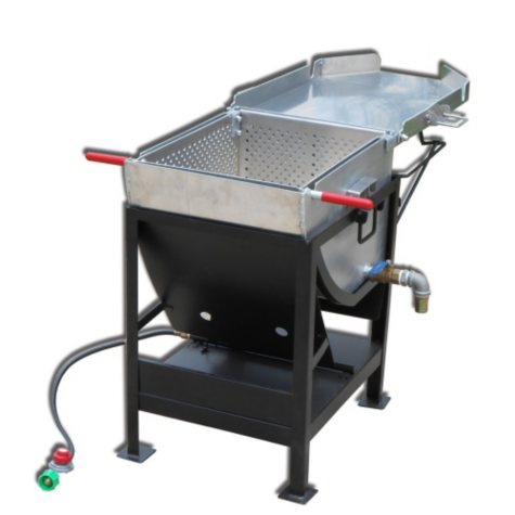 King Kooker, Model #4545, Heavy Duty Outdoor Propane Jet Cooker with Approximately 85-Qt. Aluminum Pot, Hinged Basket and Lid