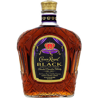 Crown Royal Canadian Black Whisky (750 ml)