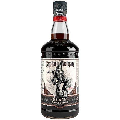 Captain Morgan Black Spiced Rum (750mL)