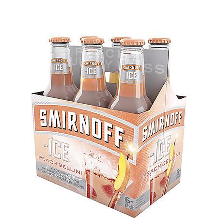 Smirnoff Ice Peach Bellini (11.2 fl. oz. bottle, 6 pk.)
