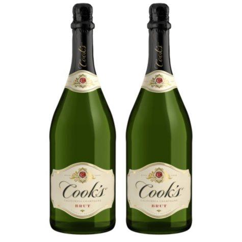 Cook's Brut California Champagne (1.5 L bottle, 2 pk.)