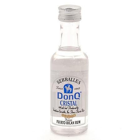 Don Q Cristal Puerto Rican Rum (375 ml bottle, 24 pk.)