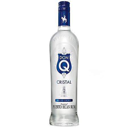 Don Q Cristal Puerto Rican Rum  (750 ml)