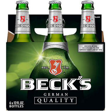 BECKS 6 / 12 OZ BOTTLES