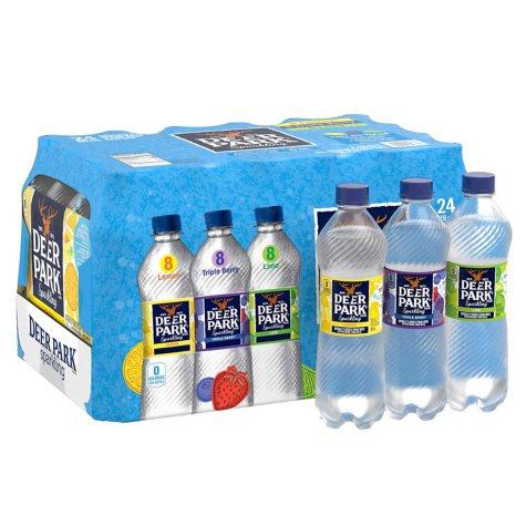 Deer Park Sparkling Spring Water, Assorted Flavors (16.9 oz., 24 pk.)