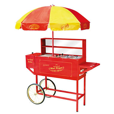 Nostalgia HDC-701 Vintage Collection Carnival Hot Dog Cart & Umbrella