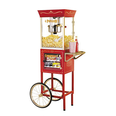 Nostalgia Popcorn Maker & Concession Cart