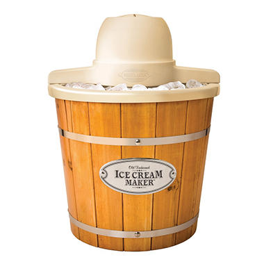 Nostalgia Vintage Collection Wood Bucket Ice Cream Maker