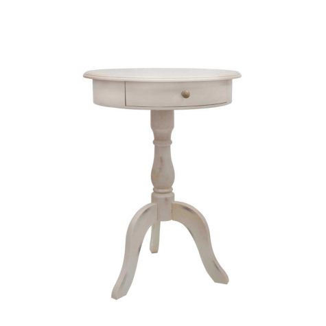 Pedestal Table, White Finish