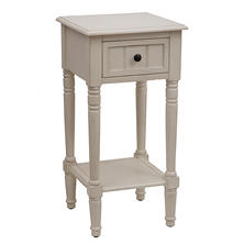 Square Accent Table, Antique White