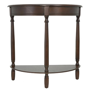 Half Round Console Table Walnut