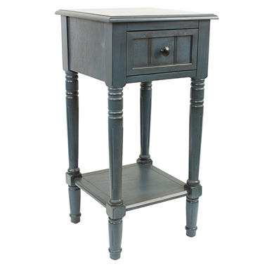Square Accent Table with Drawer (Assorted Colors)