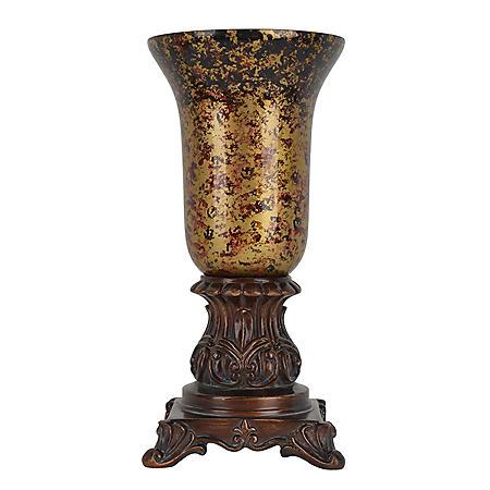 Aria Bronze Lamp, Glass Shade