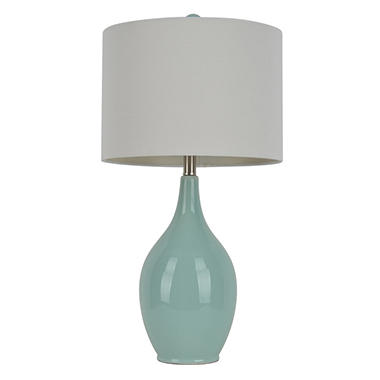 Jeannie Bottle Table Lamp, Spa Blue