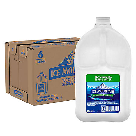 Ice Mountain 100% Natural Spring Water (1gal / 6pk)