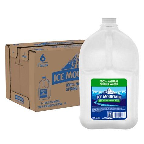 Ice Mountain 100% Natural Spring Water (1 gal., 6 ct.)