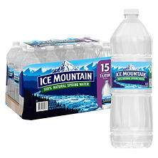 Ice Mountain 100% Natural Spring Water (1 L bottle, 15 pk.)