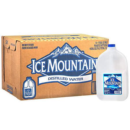Ice Mountain Distilled Water (1gal / 6pk)