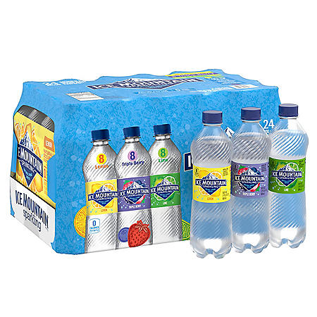 Ice Mountain Sparkling Spring Water, Assorted Flavors (16.9 fl. oz., 24 pk.)