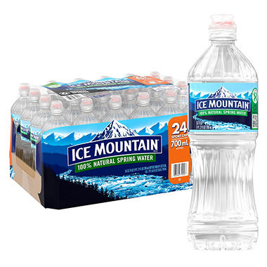 Ice Mountain 100% Natural Spring Water (700 ml, 24 pk.)