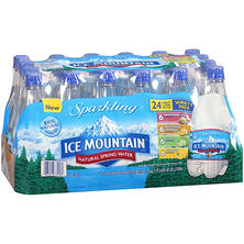 Ice Mountain Sparkling Water Variety Pack (.5L bottles, 24 pk.)