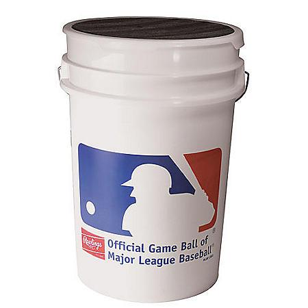 Rawlings Bucket with 36 ROLB1X Practice Baseballs
