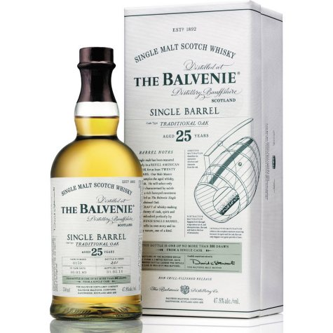 The Balvenie Single Barrel 25 Year Old Scotch Whisky (750 ml)