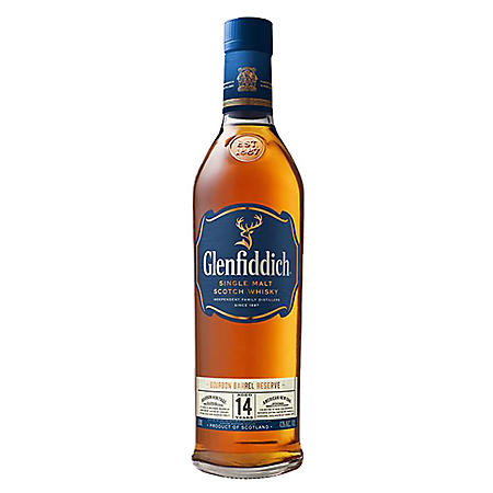 Glenfiddich Bourbon Barrel Reserve 14 Year Old Scotch Whisky (750 ml)