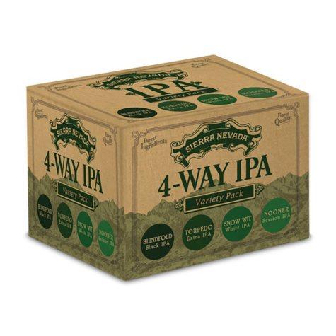 Sierra Nevada 4-Way IPA Variety Pack (12 fl. oz. bottle, 24 pk.)