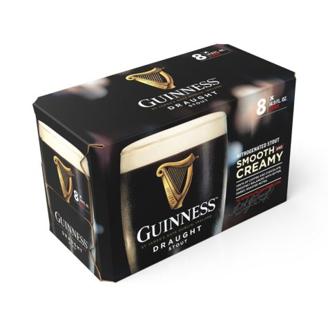 Guinness Draught Import Beer (14.9 fl. oz. can, 8 pk.)