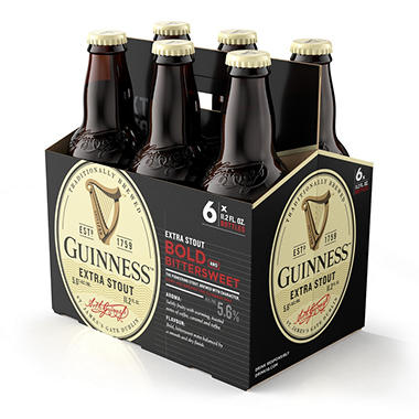 GUINNESS STOUT 6 / 11.2 OZ BOTTLES