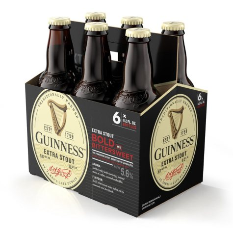 Guinness Extra Stout Import Beer (11.2 fl. oz. bottle, 6 pk.)
