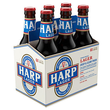 HARP LAGER 6 / 12 OZ BOTTLES