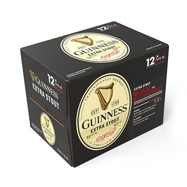 Guinness Extra Stout Import Beer (11.2 fl. oz. bottle, 12 pk.)