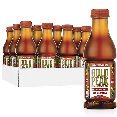 Gold Peak Unsweetened Tea (18.5 fl. oz., 12 pk.)