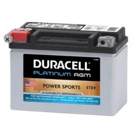 Duracell AGM Powersport Battery - ETX9