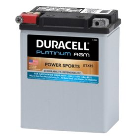Duracell AGM Powersport Battery - ETX15