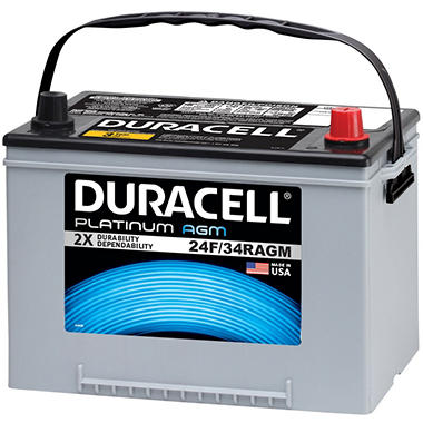 duracell agm automotive battery group size 24f 34r sam 39 s club. Black Bedroom Furniture Sets. Home Design Ideas