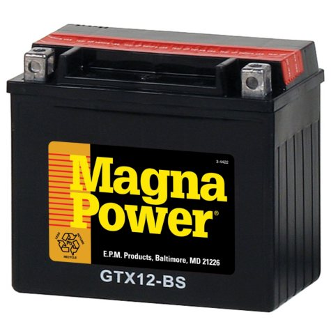 Magna Power Power Sports Battery - Group Size 12BS
