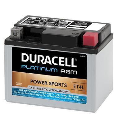 Duracell Agm Powersport Battery Et4l Sam S Club