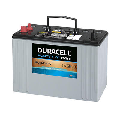 Group 31 Agm Battery >> Duracell Agm Deep Cycle Marine And Rv Battery Group Size 31