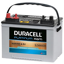 Duracell AGM Deep Cycle Marine and RV Battery - Group Size 34M