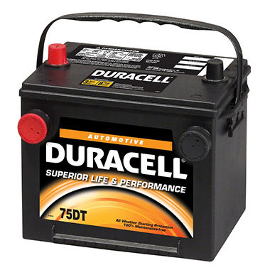 Duracell Automotive Battery - Group Size 75/86