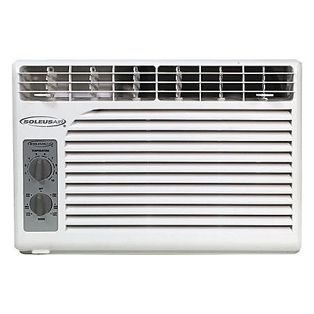 SoleusAir 5,000 BTU 115V Window-Mounted Air Conditioner with Mechanical Controls