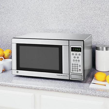 Ge 174 1 1 Cu Ft 1100 Watt Countertop Microwave Stainless